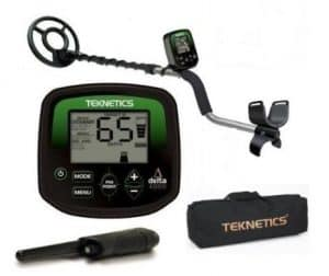 Teknetics Delta 4000 Metal Detector with Carry Bag and Pinpointer