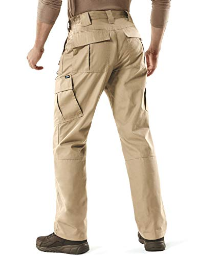 Water Repellent Ripstop Cargo Pants Lightweight EDC Outdoor Camping Walking Trousers CQR Mens Tactical Hiking Work Trousers